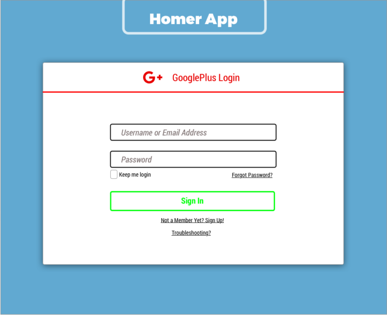 google sign in copy