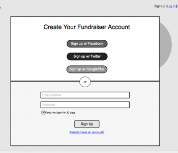 Ways2Give-Create Account
